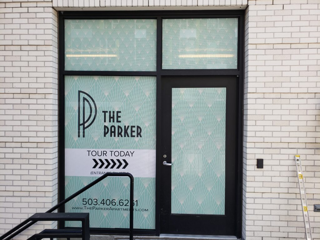 Perforated Window Film The Parker
